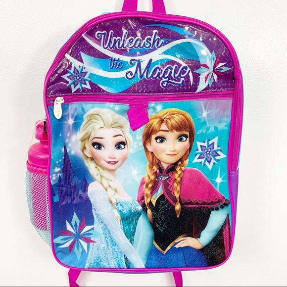 Disney Other - New Backpack Disney Frozen Anna And Elsa Graphic